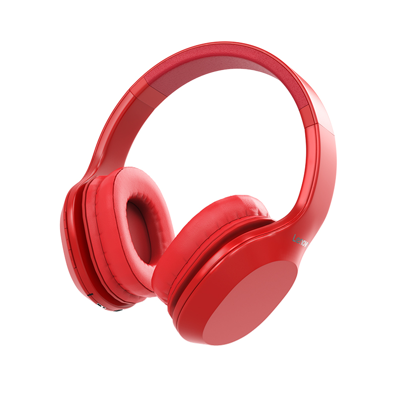 Lenovo HD100 Wireless Bluetooth Headphone Noise Isolation 20Hours Playing Time black