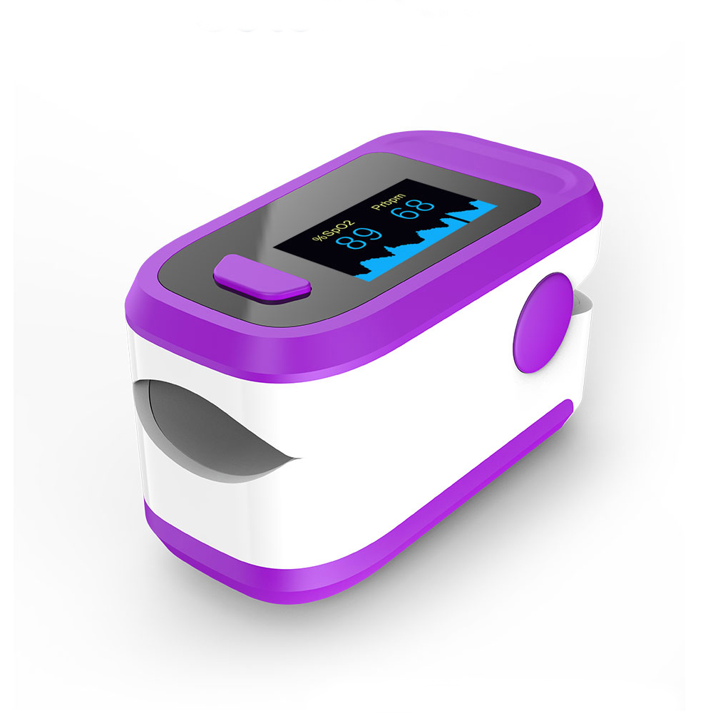 Fingertip Pulse Oximeter Blood Oxygen Saturation Monitor purple
