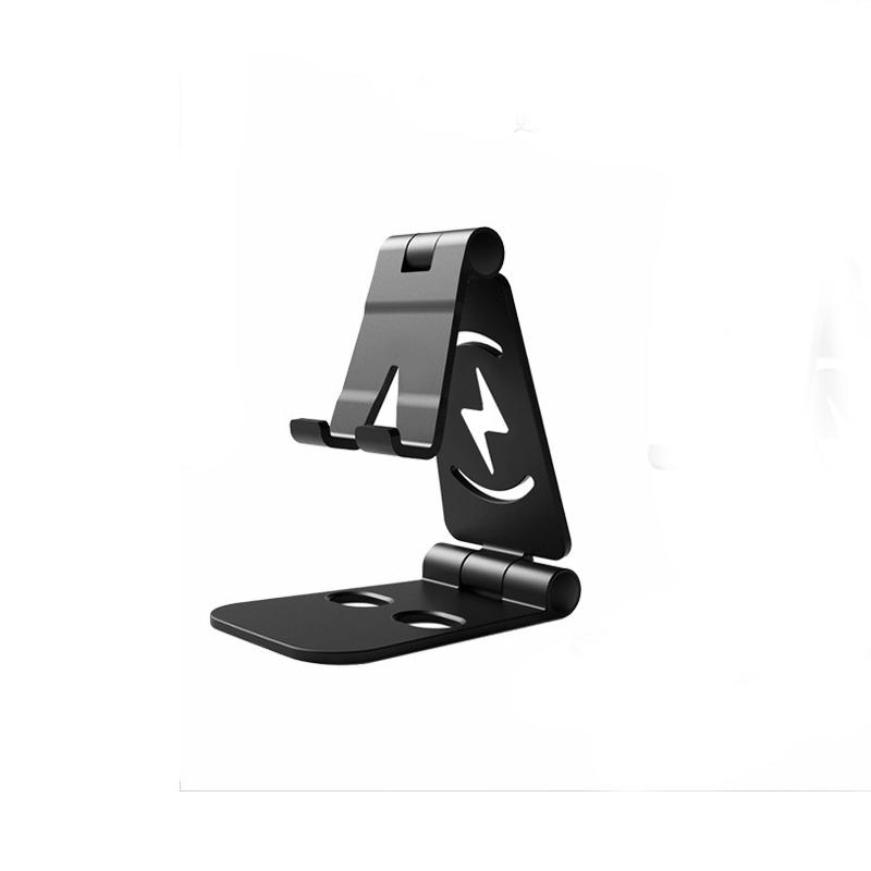Universal Foldable Desktop Desk Stand Holder Mount for Cell Phone Tablet Pad black