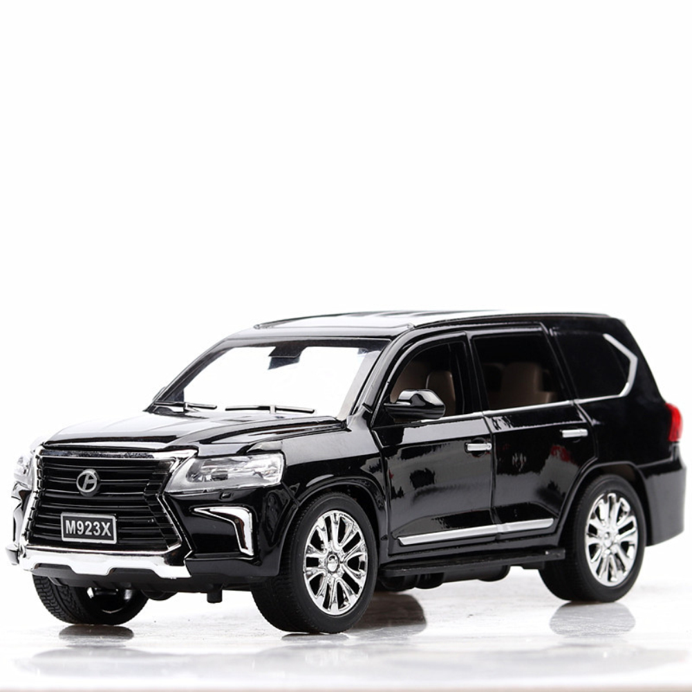 1:24 Alloy Car Model Simulation Off-road Vehicle with Light Sound Doors Open Kid Toy  black