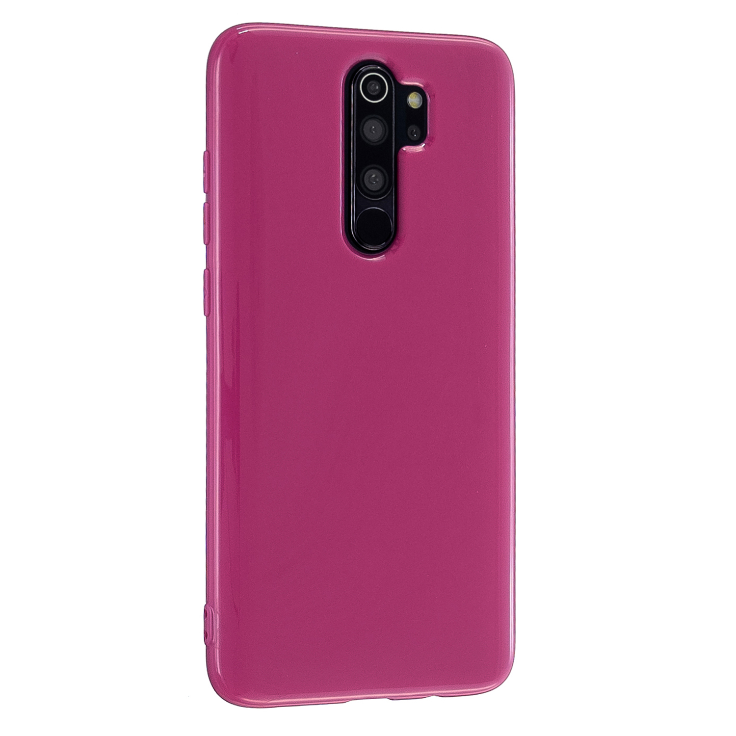 For Redmi Note 8/8 Pro Cellphone Cover 2.0mm Thickened TPU Case Camera Protector Anti-Scratch Soft Phone Shell Rose