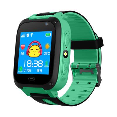 Children Kids Smart Watch Anti-Lost SOS Tracker Smartwatch  [Y09-S] black and green