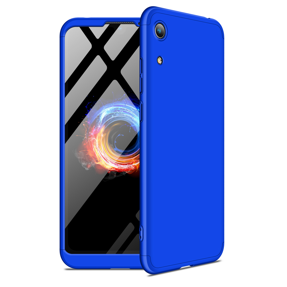 For HUAWEI HONOR 8A Ultra Slim PC Back Cover Non-slip Shockproof 360 Degree Full Protective Case blue