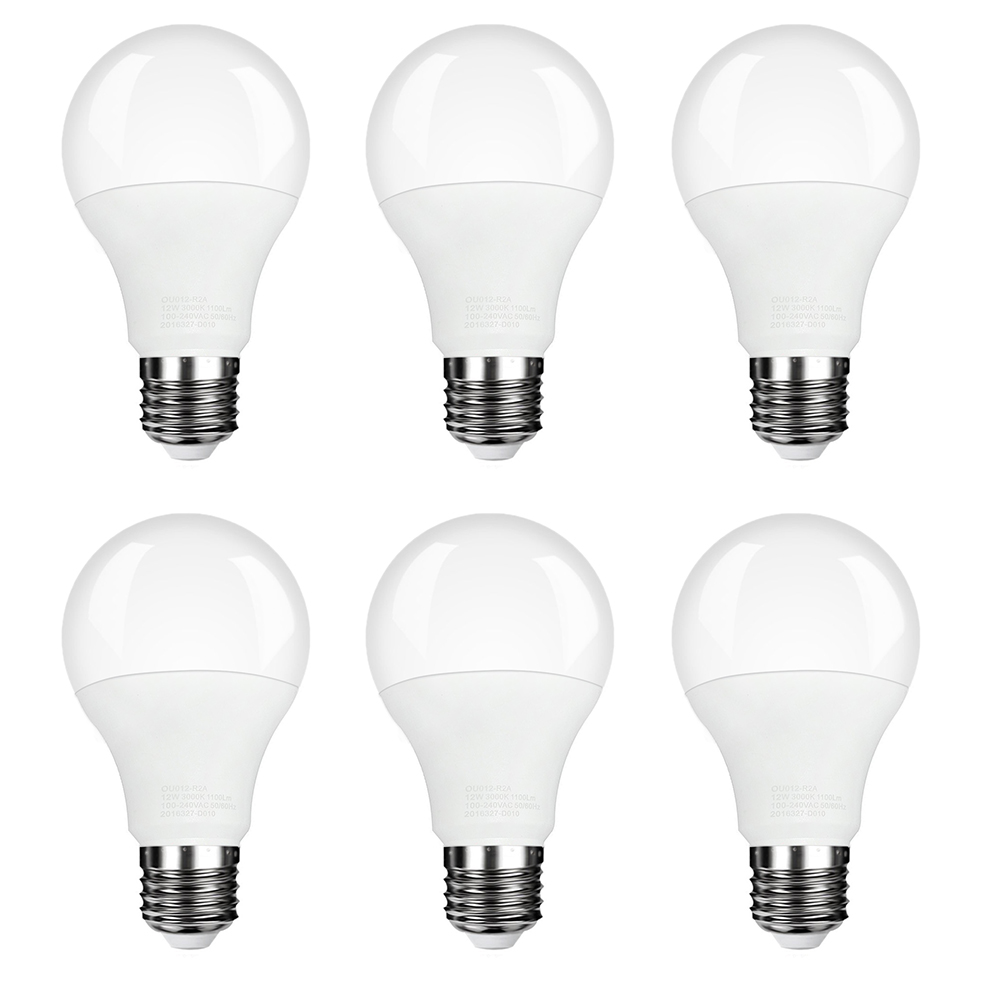 LED  Light Bulb, 7W Daylight White 3000K LED Energy Saving Light Bulbs(6 Pcs)