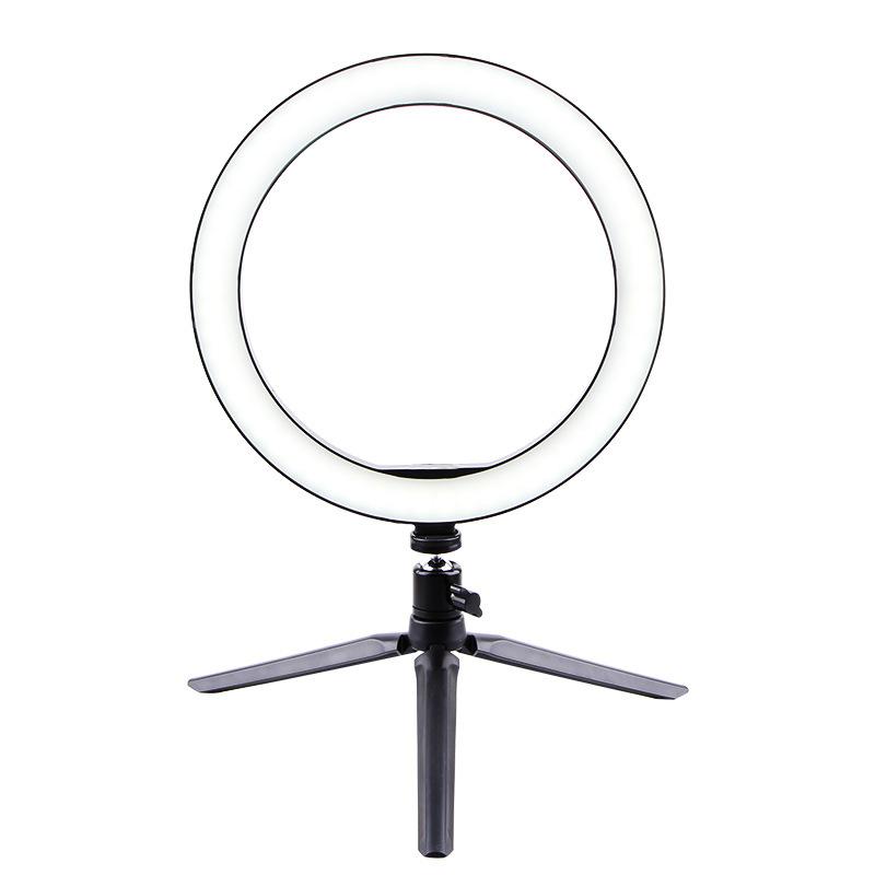 Selfie Ring Light LED Circle Light USB LED Desktop Lamp with Stand Dimmable LED Fill Light for Live Stream Photograph Desktop stand + 26cm fill light