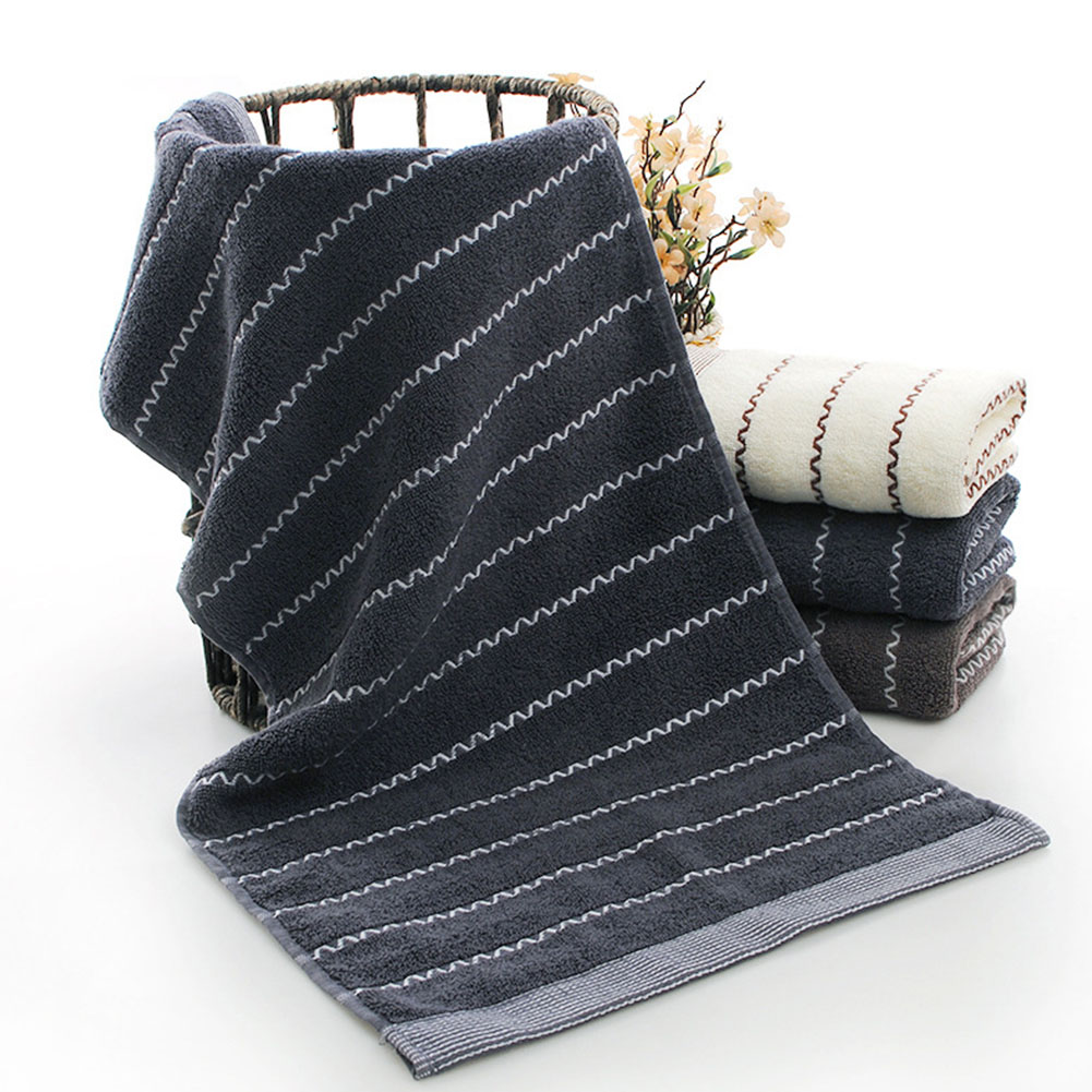 Water Absorption Cotton Face Towel for Home Skinfriendly Towel Dark gray_33 * 75cm