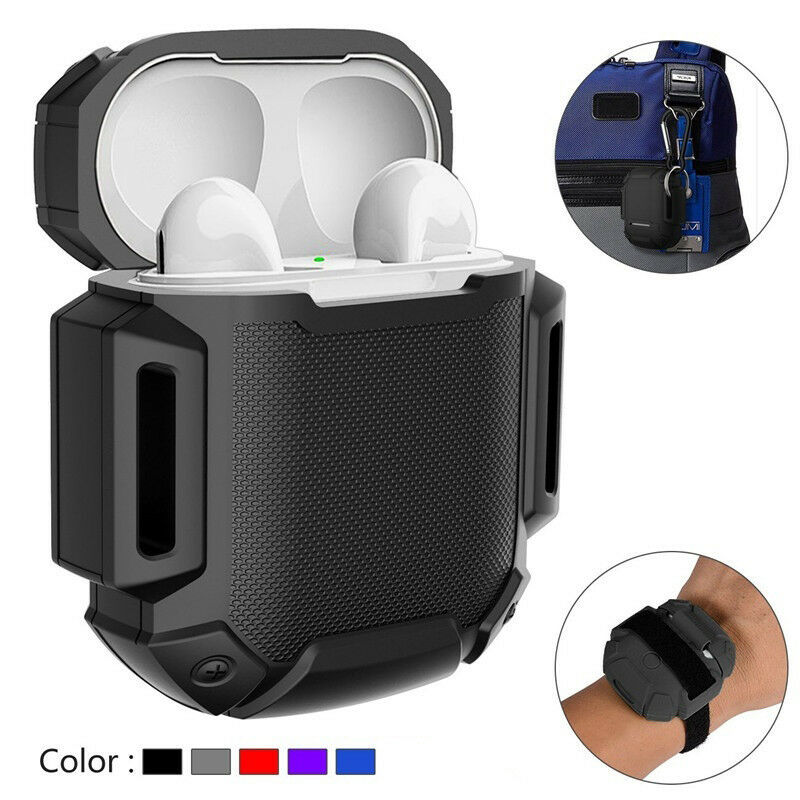 Silicone Case Cover Protective Skin for Apple Airpod AirPods Charging Case  black