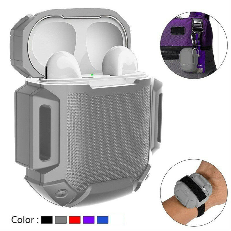 Silicone Case Cover Protective Skin for Apple Airpod AirPods Charging Case  gray