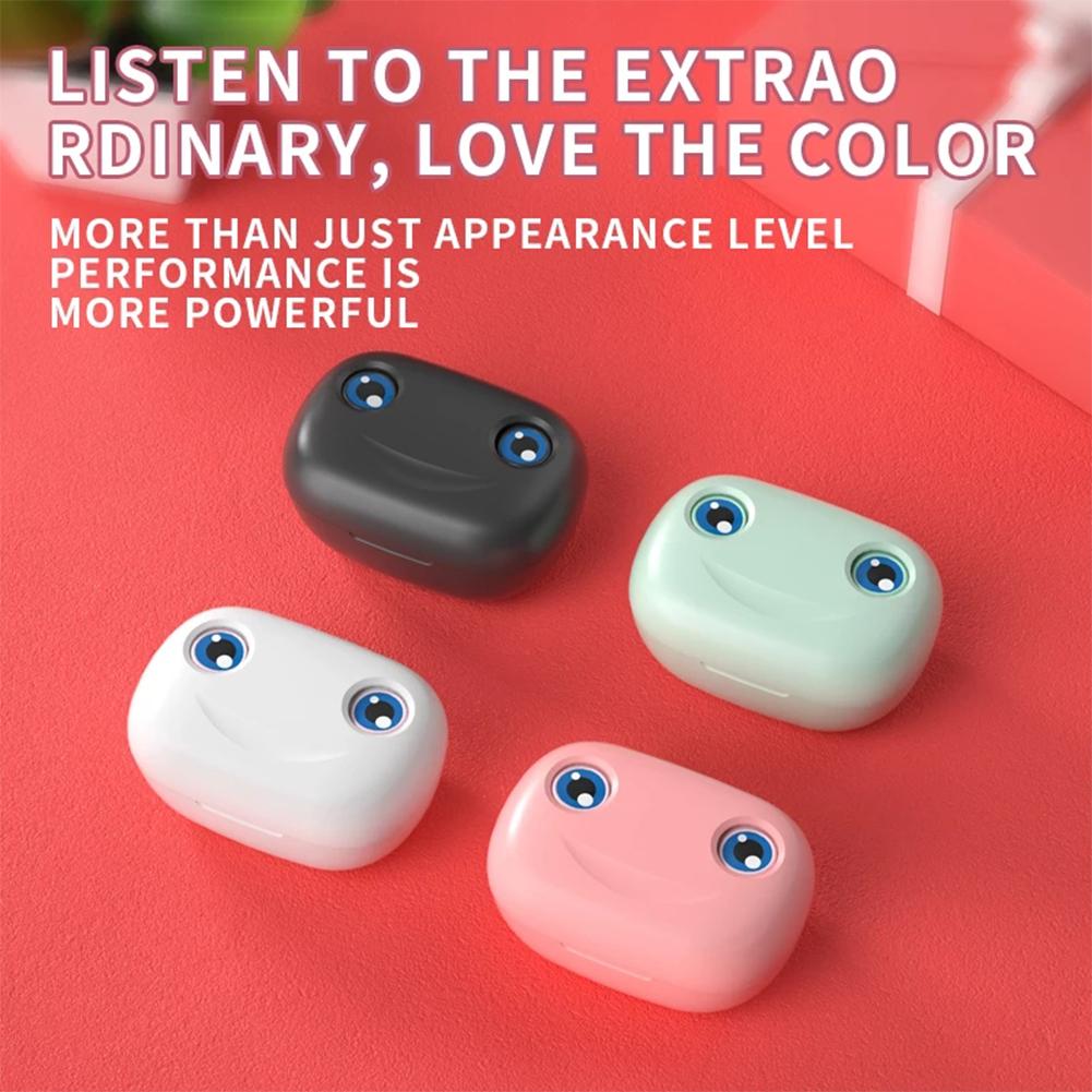E6 Wireless Bluetooth 5.1 Headset Tws Touch Cartoon Sports In-ear Binaural Earphones white