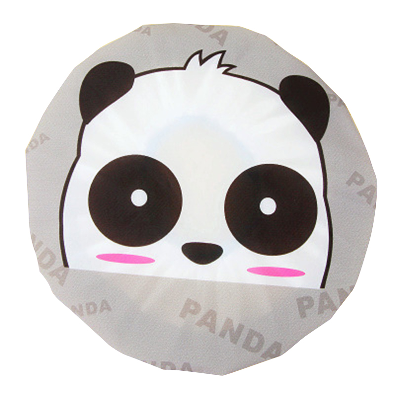 Cute Cartoon Shower Cap Resuable - Panda