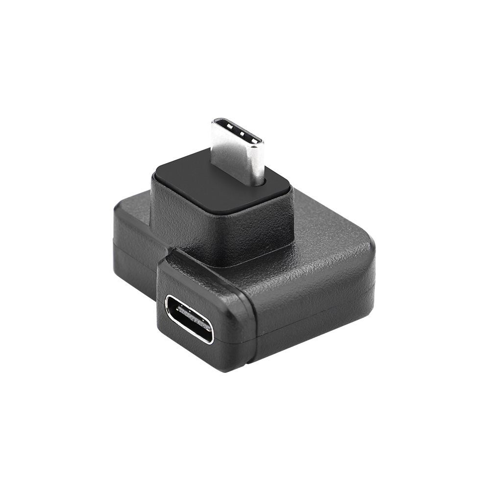 3.5mm / USB-C Audio Adapter ABS Black Microphone Converter for DJI OSMO Action black