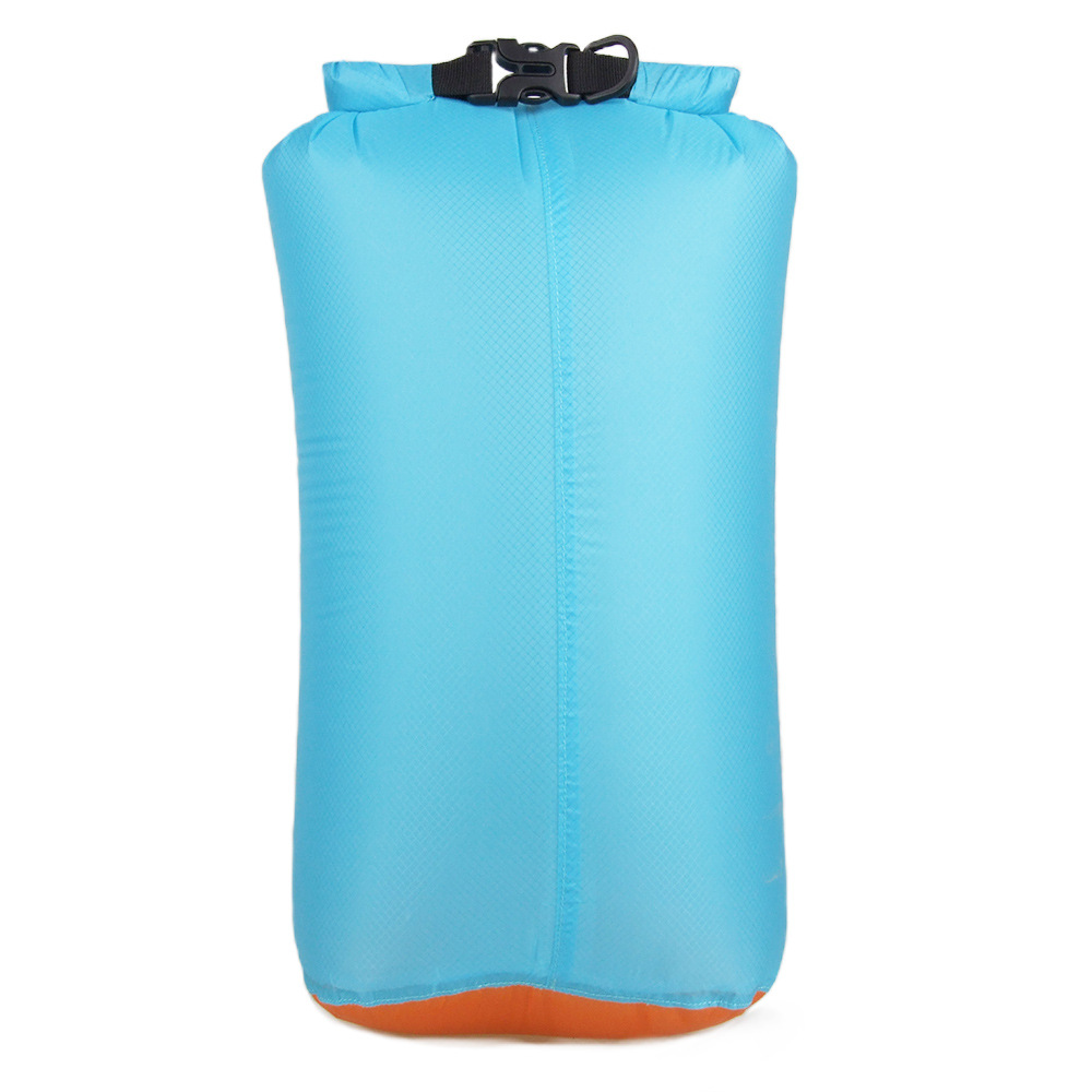 20D Portable Swimming Bag Waterproof Dry Bag Sack Storage Pouch Bag Sky blue (buckle)_M