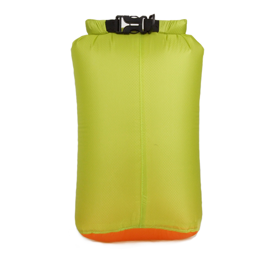 20D Portable Swimming Bag Waterproof Dry Bag Sack Storage Pouch Bag Green grass (buckle)_M
