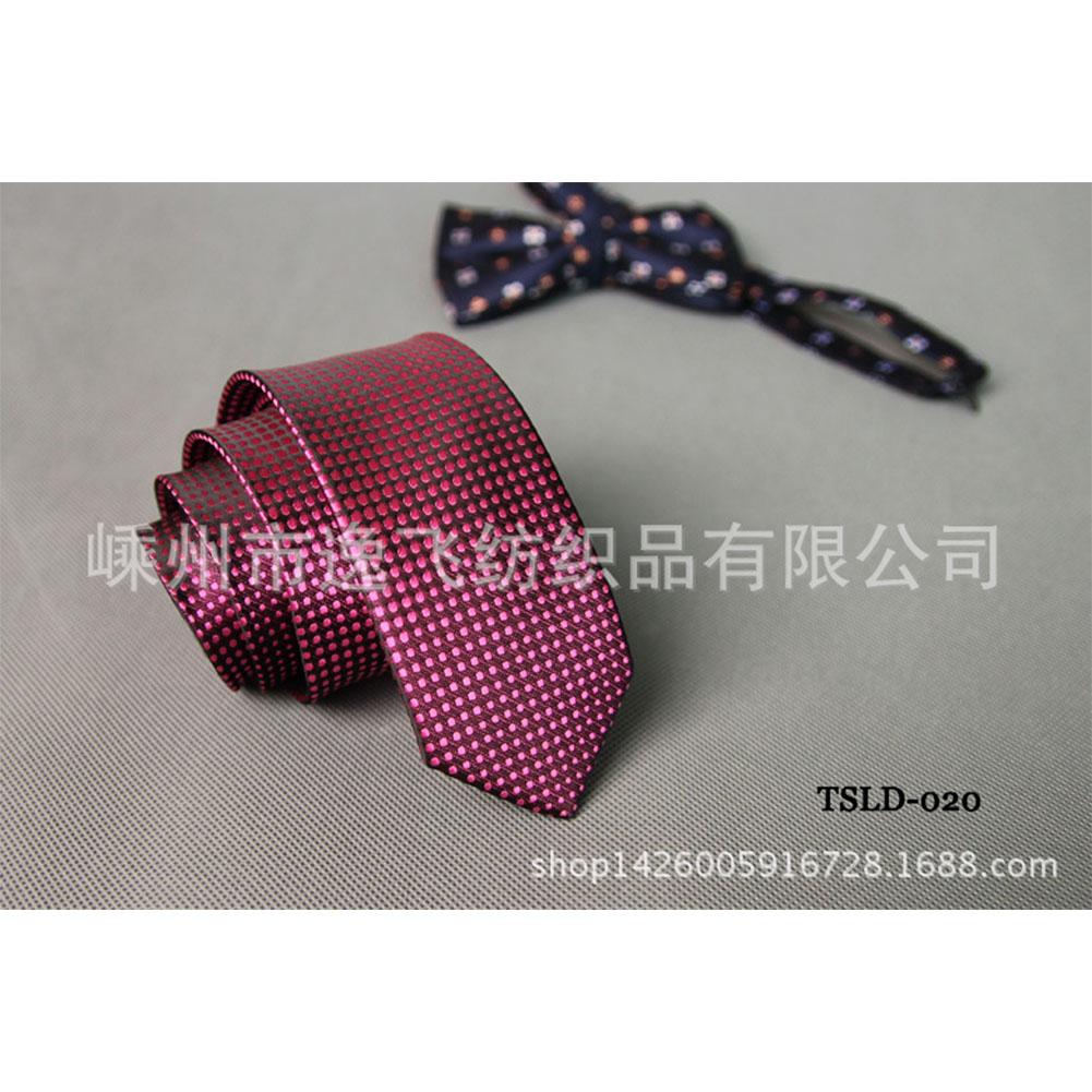 5cm Skinny Tie Classic Silk Solid Dot Narrow Slim Necktie Accessories Wedding Banquet Host Photo TSLD-020