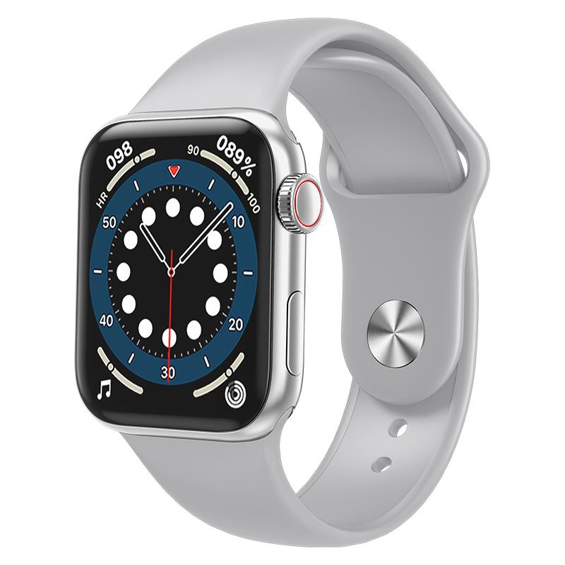 HW12 HW16 Full Screen Smart Watch 44mm 40mm Men Women Multifunction Smartwatch white