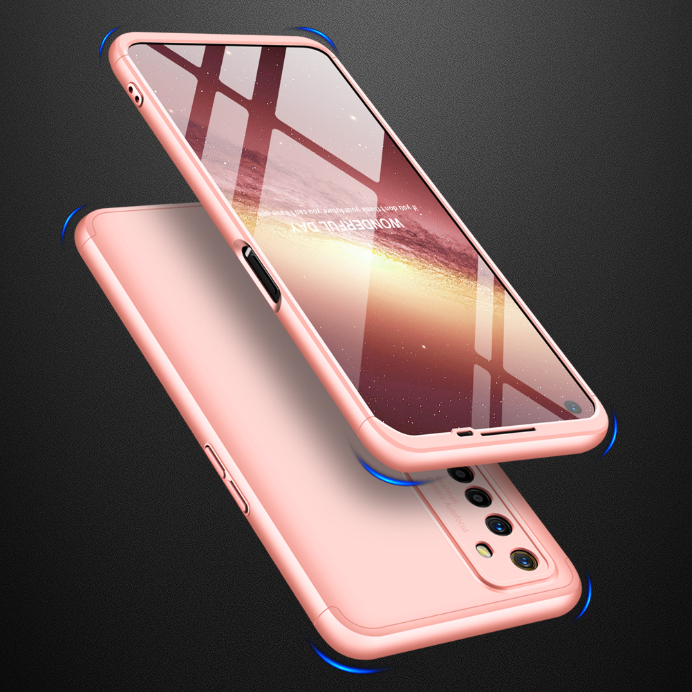 For OPPO Realme 6 Mobile Phone Cover 360 Degree Full Protection Phone Case Rose gold