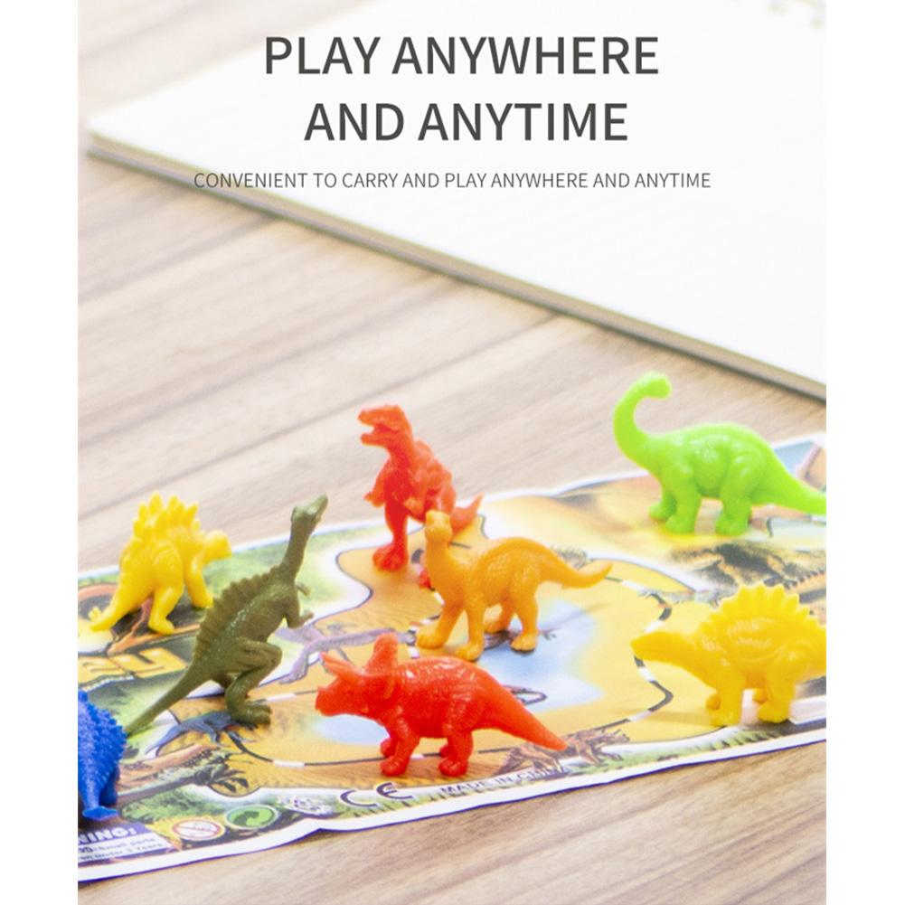 8pcs/set Dinosaur Wildlife Model Dinosaur Baby Puzzle Plastic Toys Mini Jungle Animal Toy Set As shown