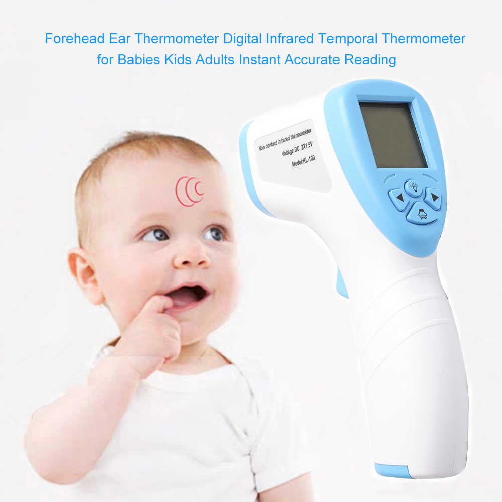 Infrared Thermometer Body Digital Electronic Non-contact Forehead Measure Temperature Tool white