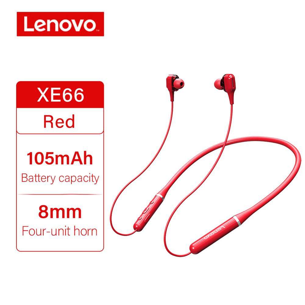 Original LENOVO Xe66 Wireless Headphones Bt5.0 Stereo Music Earphones 8d Surround Sport Headset Hands-free With Mic Red