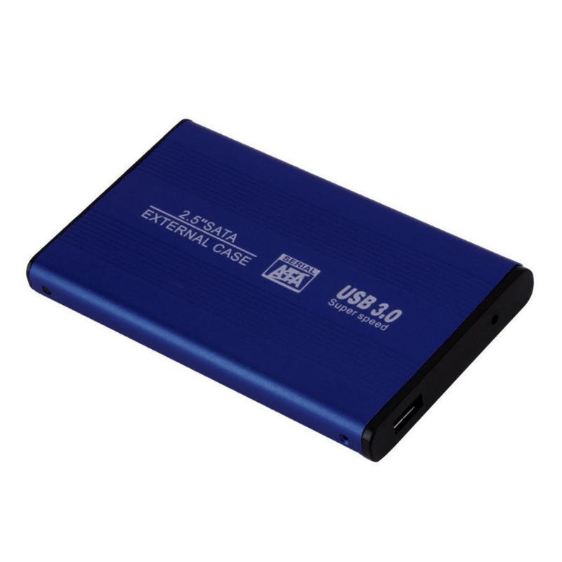 2.5 Inch USB 2.0/3.0 SATA External Mobile Hard Disk Box HDD Aluminum Alloy Shell Adapter Case Enclosure Box for PC Laptop Notebook Blue USB3.0