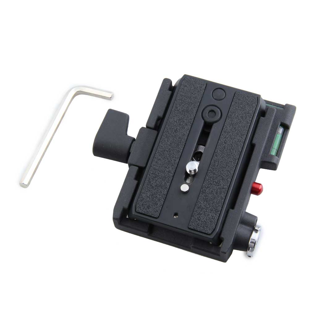 MH621 Quick Release Adapter Converter Plate Set Metal Professional Tripod for Giottos black