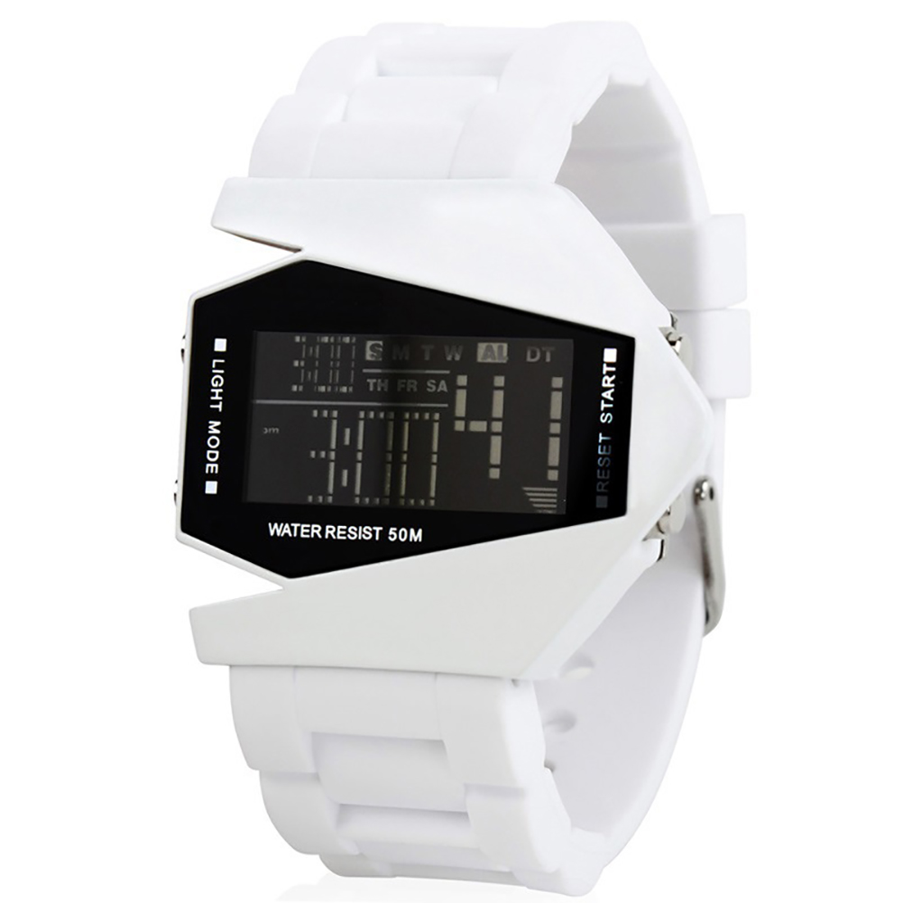 Watch Luxury Digital LED Date Sport Outdoor Electronic Watch For Party Gift Cute Electronic Fashion Wrist Watch Waterproof white