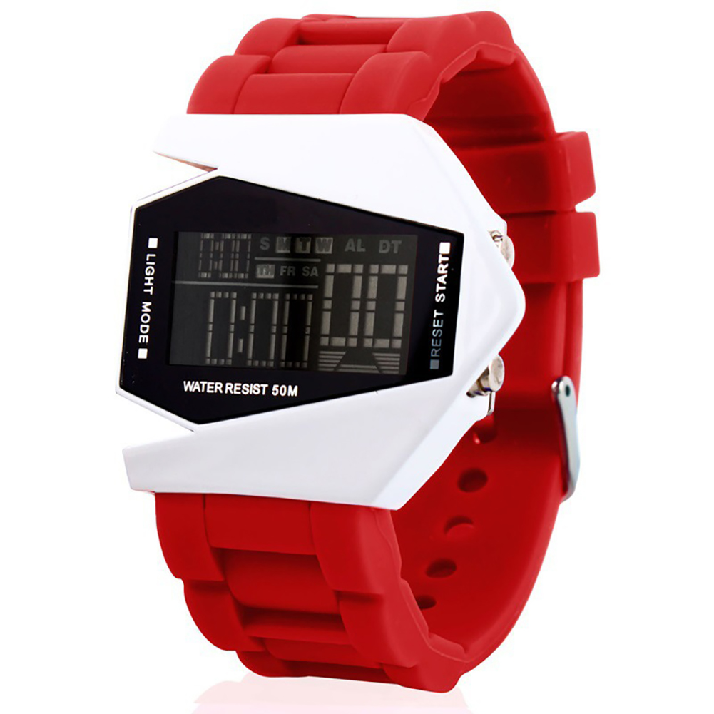 Watch Luxury Digital LED Date Sport Outdoor Electronic Watch For Party Gift Cute Electronic Fashion Wrist Watch Waterproof red