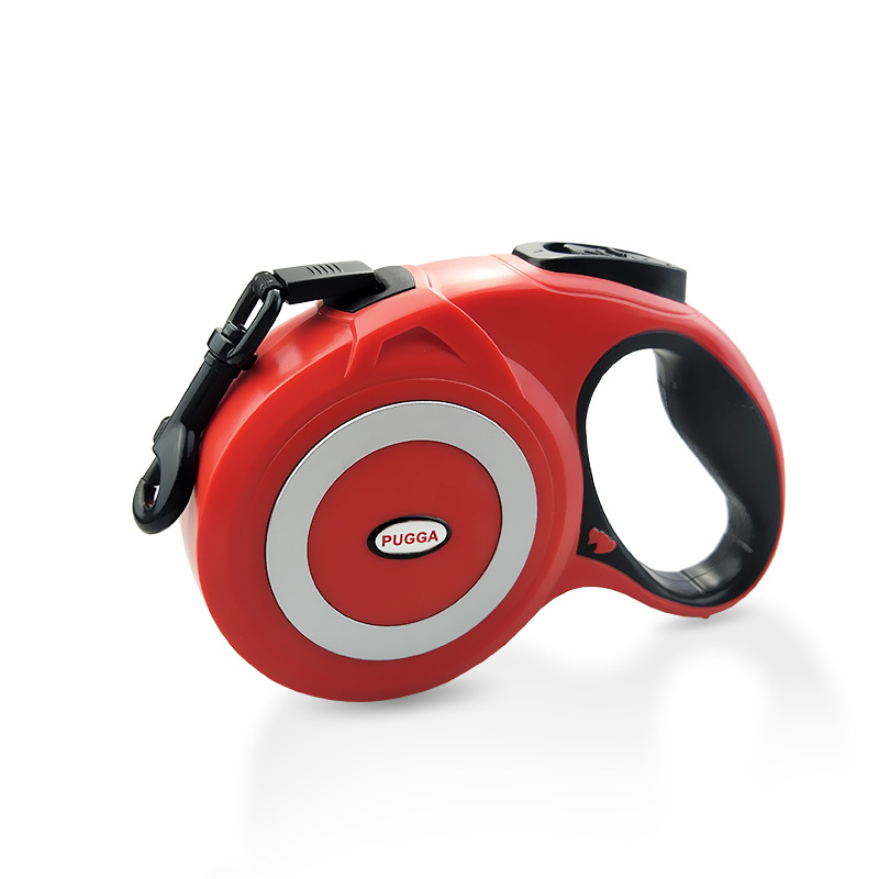 Retractable Reflective Pet Leash for Outdoor Medium Large Dogs Walking Leads red_8m
