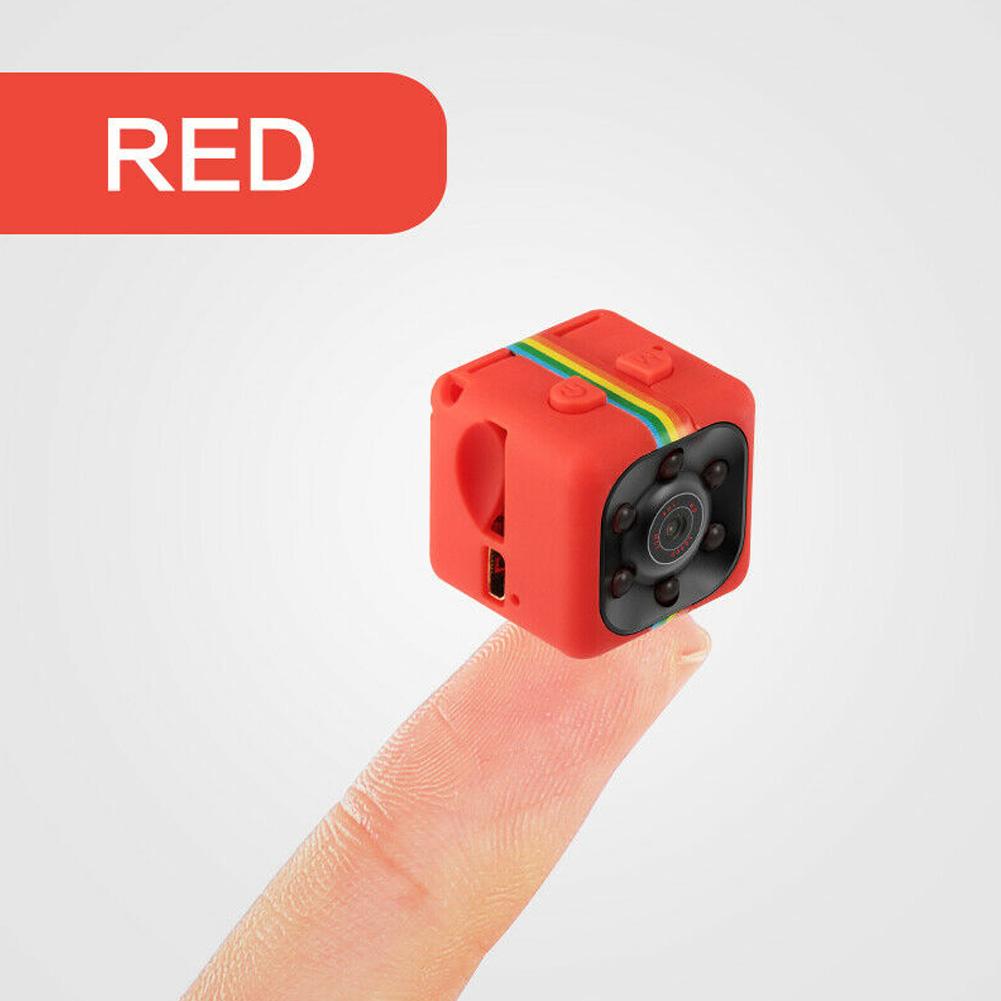Mini SQ11 Metal Camera HD 1080P Sports DVR Camera Night Vision Sports Outdoor Camera red_1080P
