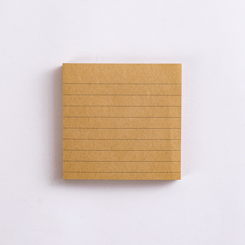 Kraft  Paper  Sticky Note  Square  Tearable  N-time   Sticky Note  Student Supplies Quartet small notes-brown horizontal line