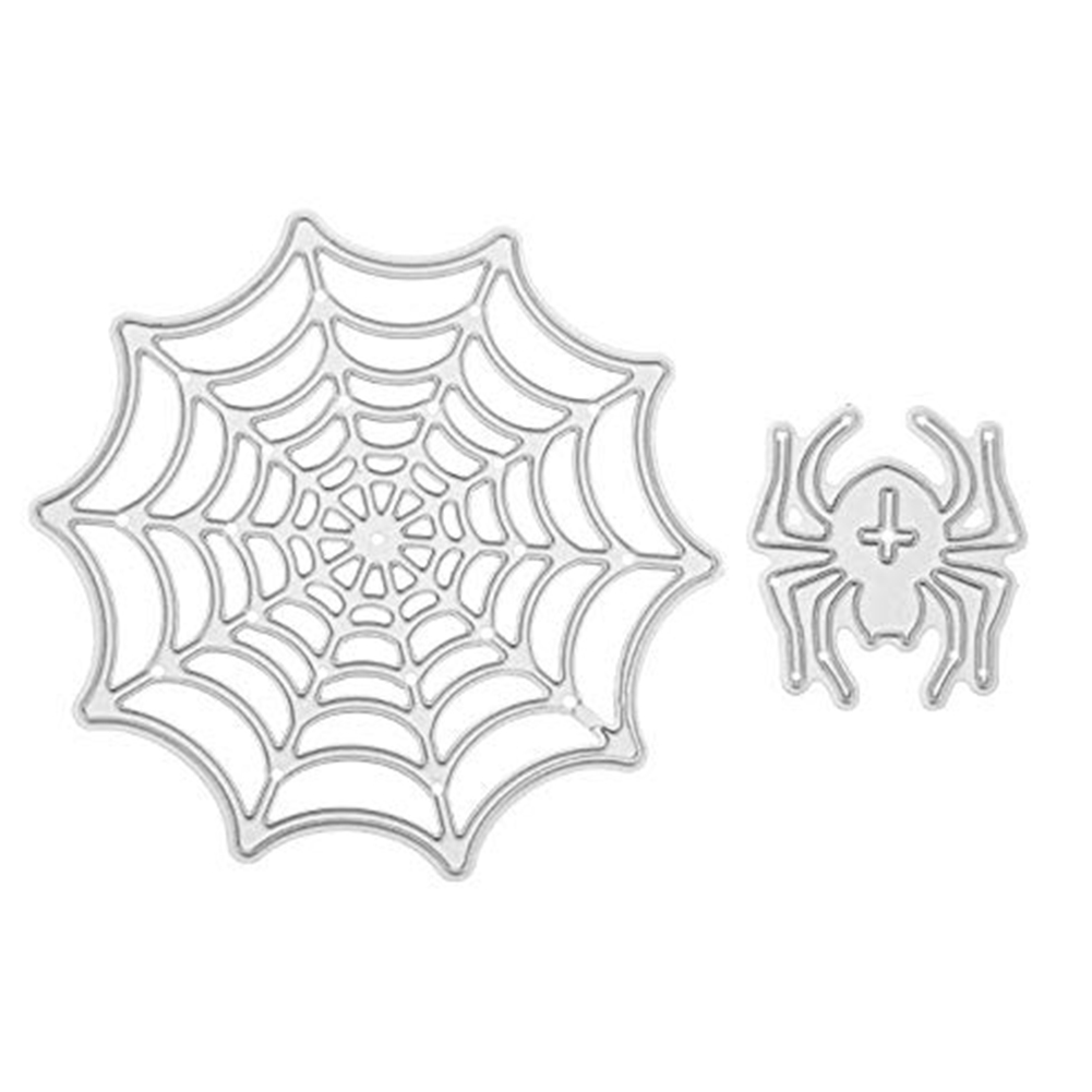 Spider Web Pattern Embossing Carbon Steel Cutting Dies Set for Halloween Scrapbook WS-156 89x90mm