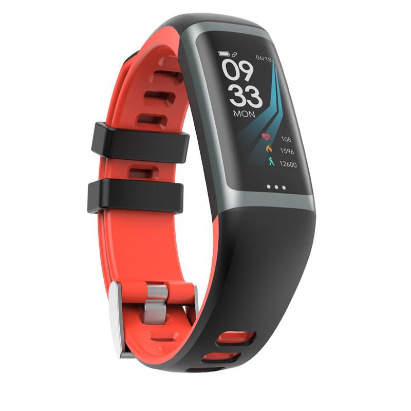 Greentiger G26 Smart Bracelet P67 Waterproof Heart Rate Blood Pressure Oxygen Fitness Bracelet Multi Sport Mode Smart Wristband Red