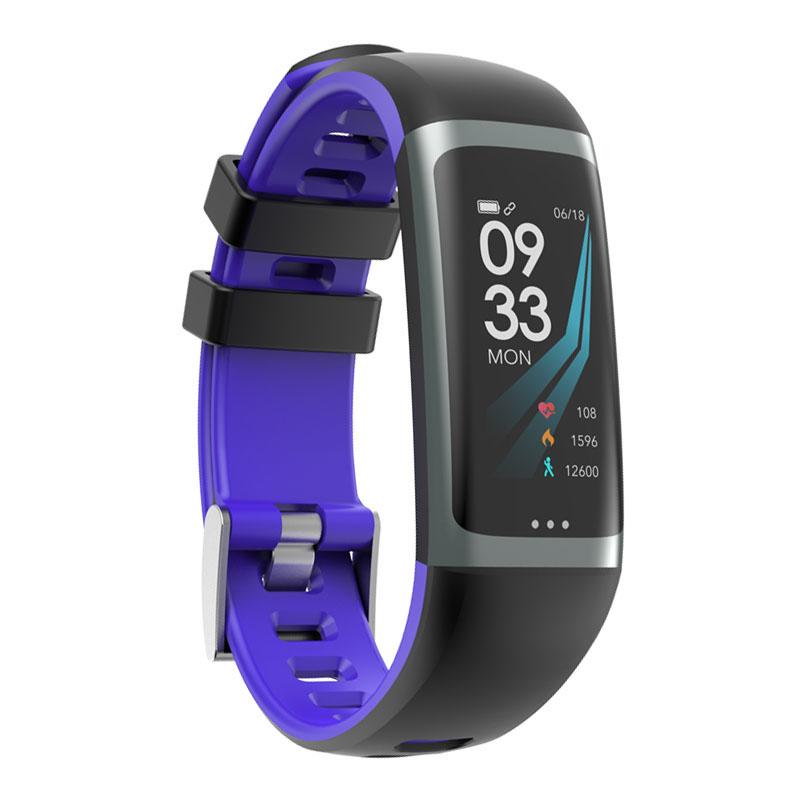 Greentiger G26 Smart Bracelet P67 Waterproof Heart Rate Blood Pressure Oxygen Fitness Bracelet Multi Sport Mode Smart Wristband Navy blue