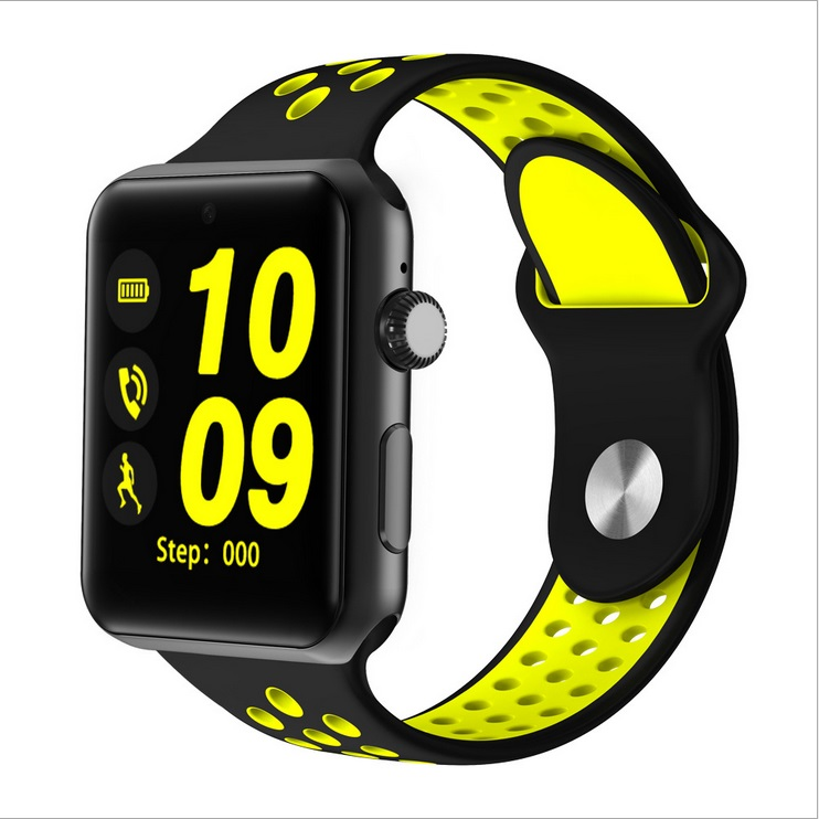 Smart Watch Pedometer Sleep Fitness Tracker IP32 Waterproof Smartwatch for Android IOS Black yellow