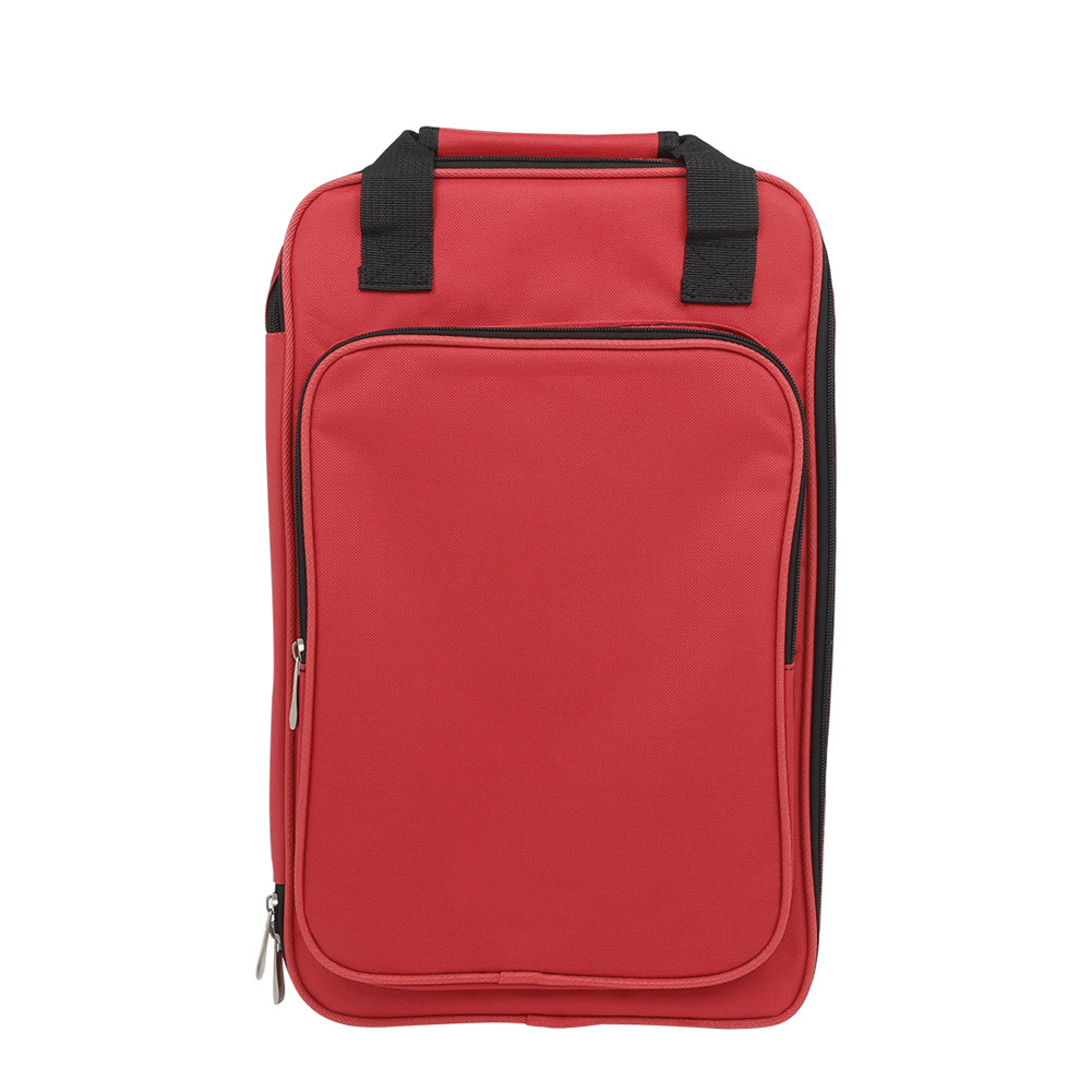 Drum Stick Storage Bag Cotton Thicken Portable Musical Percussion Sticks Storage Backpack Instruments Accessories red