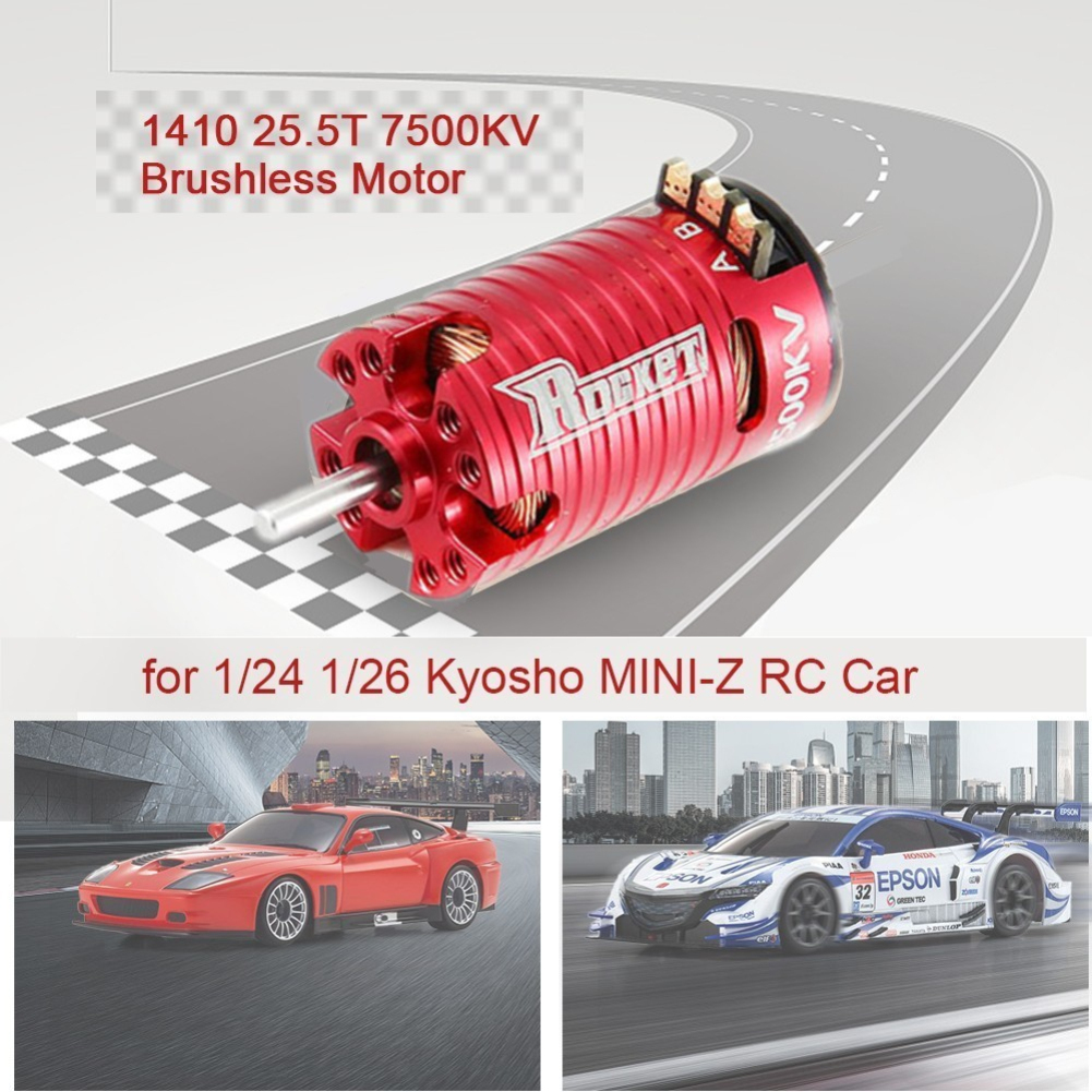 MINI1410 Motor Brushless Motor for Kyosho Mr03 Pro RC Drift Car Red 3500KV