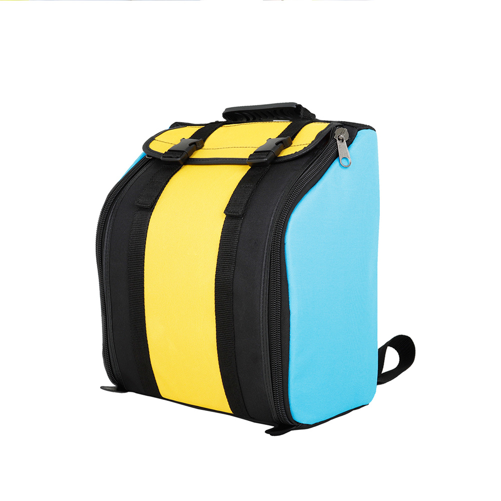 Oxford Cloth Accordion Backpack Portable Waterproof Padded Shoulder Bag Musical Instrument Storage Bag Yellow+blue