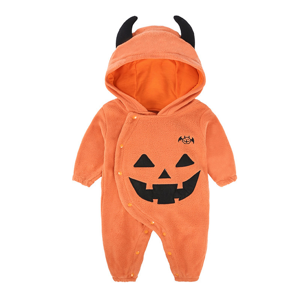 Baby Autumn snd Winter Cute Baby Boy Girl Warm and Comfortable Halloween Jumpsuit As shown_90#