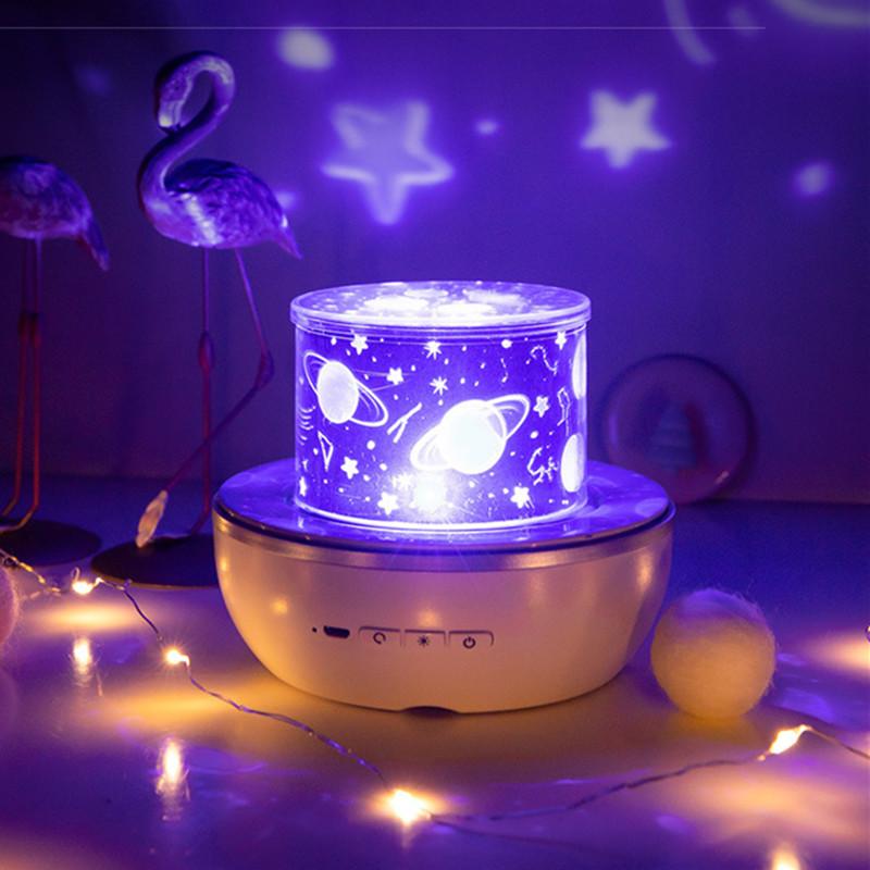 USB Charging LED Multifunction Night Light Projector for Kids Adults Bedroom Decor Plug