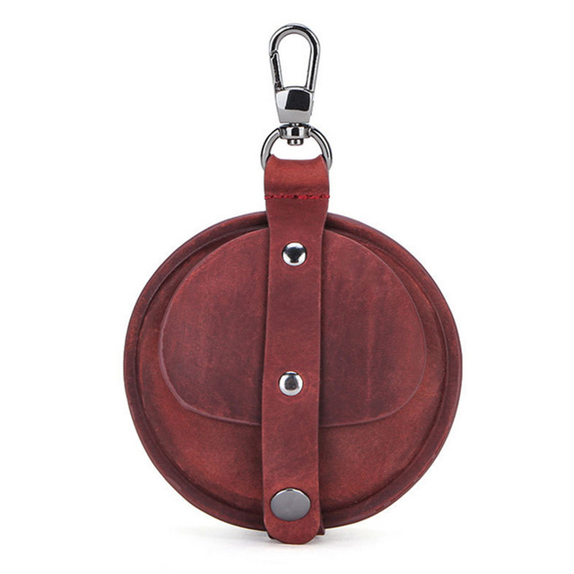 Leather Earphone Storage Case for Huawei Freebuds3 Bluetooth Wireless Earphone Protective Case Full Cover With Metal Buckle Wine red