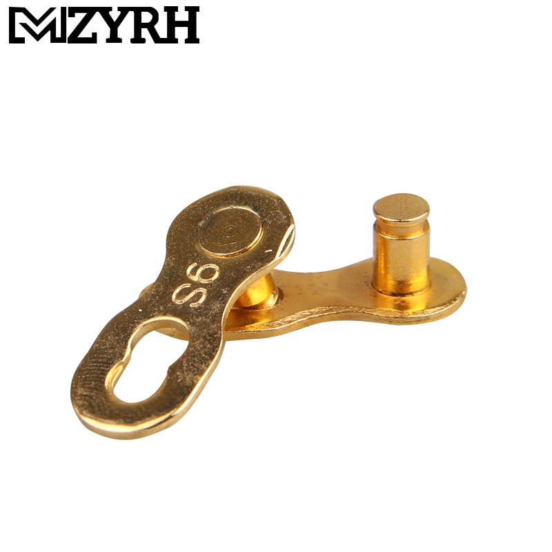 Speed Bike Chain Connector Lock Set Road Bicycle Connector Link Joint Chain Bike Parts Golden 9 speed