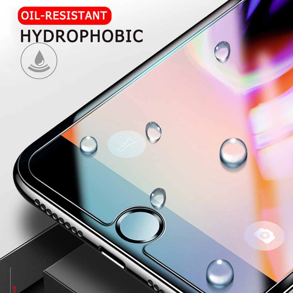 HD Tempered Glass Film Screen Protector for iPhone 6/6S/6 Plus/6S Plus/7/8/7 Plus/8 Plus/XS/XR/XS Max/11/11 Pro/11 Pro Max Transparent