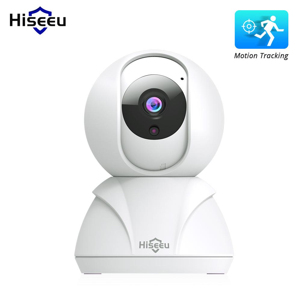 Hiseeu 720P / 1080P Home Security IP Camera Wireless Smart WiFi Camera Audio Record Baby Monitor HD Mini CCTV Camera US plug