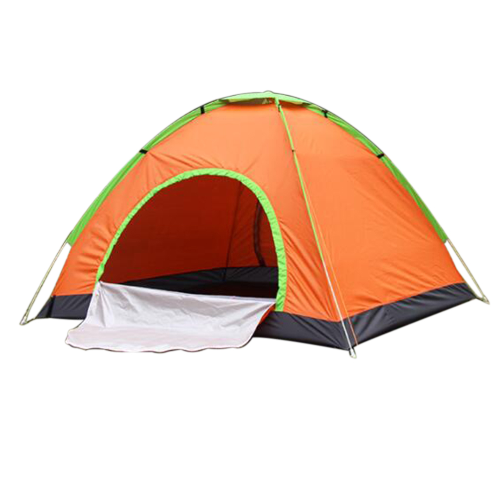 Outdoor Tent Waterproof Automatic Quick-opening Camping Double Layer Tent for Outdoor Travel Hiking Orange_3-4 people