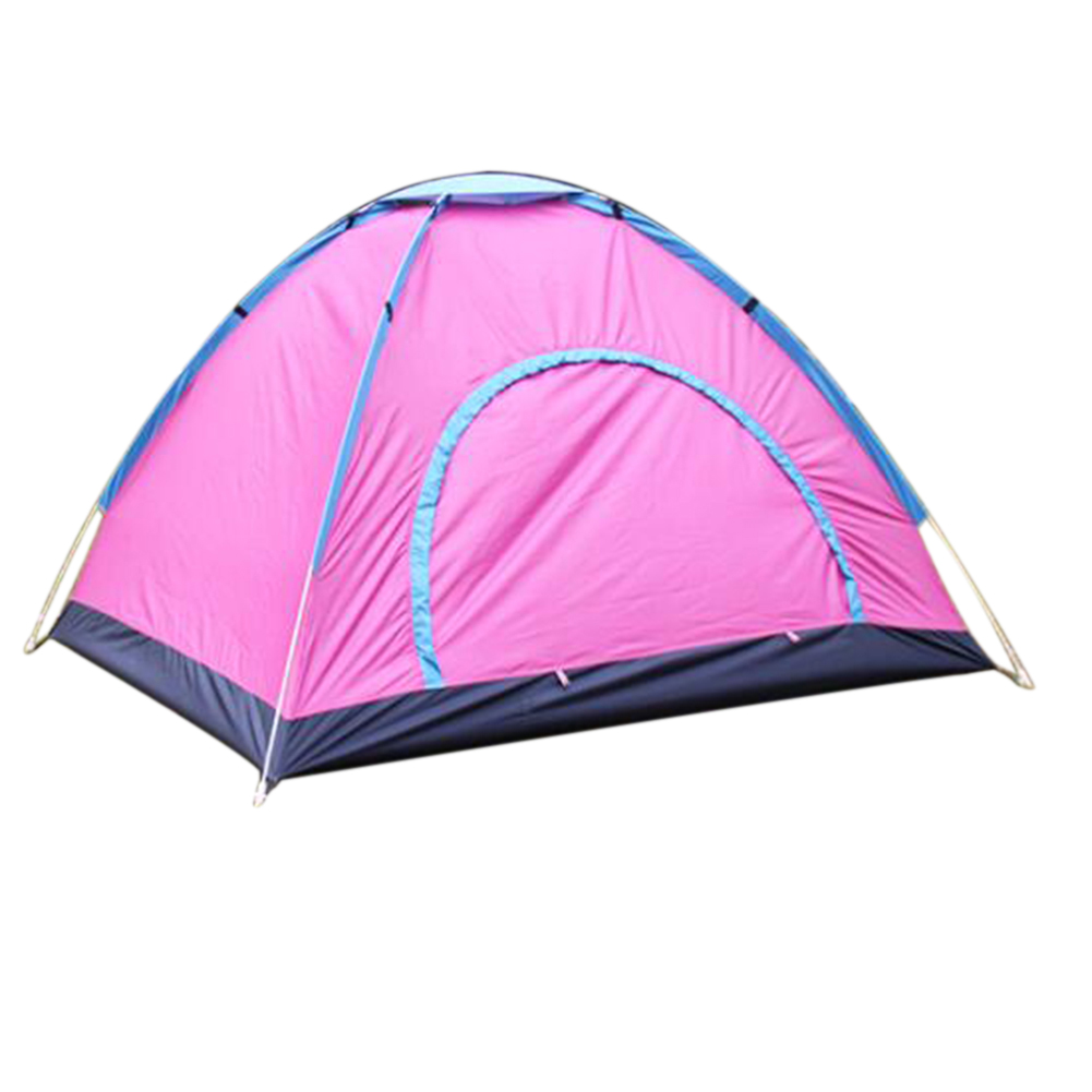 Outdoor Tent Waterproof Automatic Quick-opening Camping Double Layer Tent for Outdoor Travel Hiking Rose red_Double
