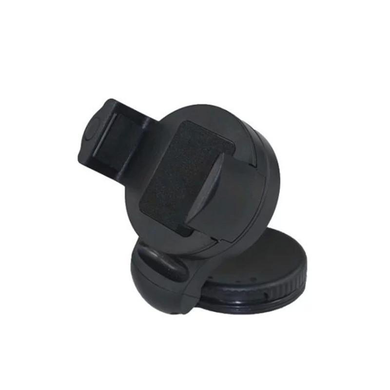 Car Mobile Phone Holder 360 Degree Mini Rotating Round Phone Holder black