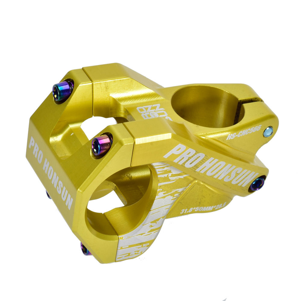 Colorful Bike Stem 28.6mm*31.8mm Hollow Short Stem Cnc Mountain Bicycle Handlebar Stem 50MM / green_50MM / 0 degree