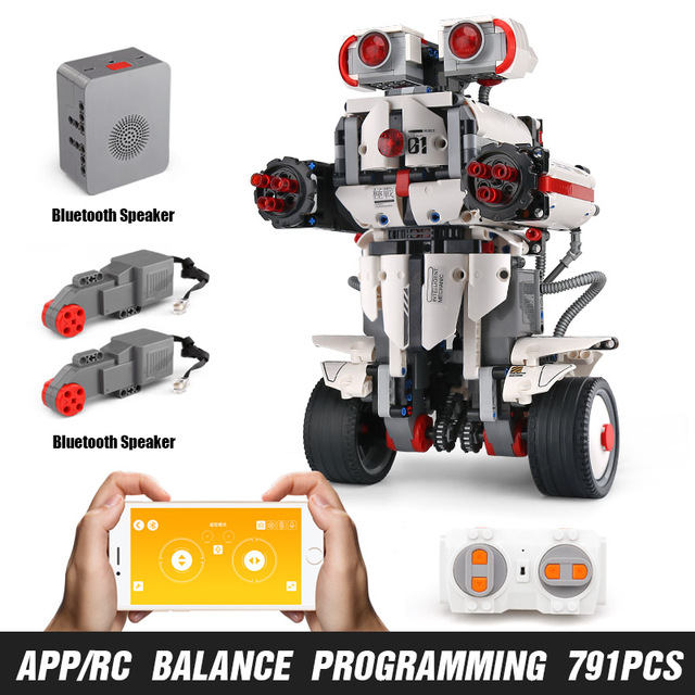 Mould King Technic Idea MINDSTORMS Programme Remote Control Robot WALL E Model Building Bricks Blocks 31313 Toys 13027 white