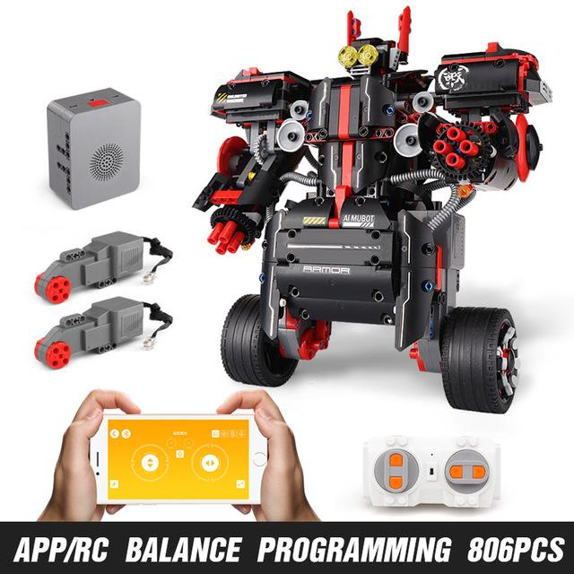 Mould King Technic Idea MINDSTORMS Programme Remote Control Robot WALL E Model Building Bricks Blocks 31313 Toys 13027 black