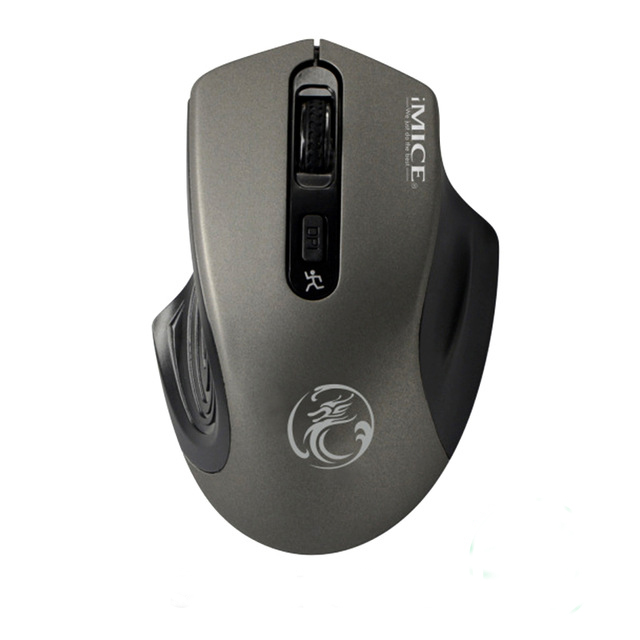 USB Wireless Mouse Optical Silent Mouse 2.4G Computer Mice Mini Ergonomic Mouse Wireless For Laptop PC gray
